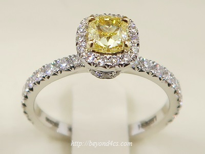 leibish co fancy intense yellow diamond engagement ring review - Yellow Diamond Wedding Rings