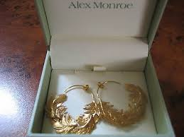 Alex Monroe Gold Earrings