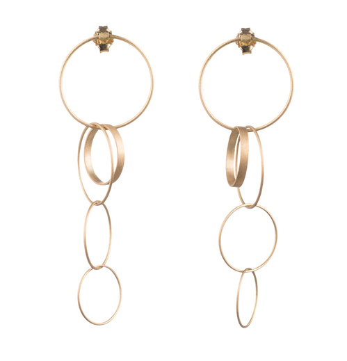 Sequenza yellow gold earrings