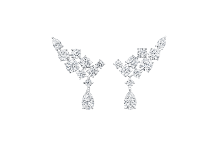 Sparkling Cluster by Harry Winston, Diamond Earrings