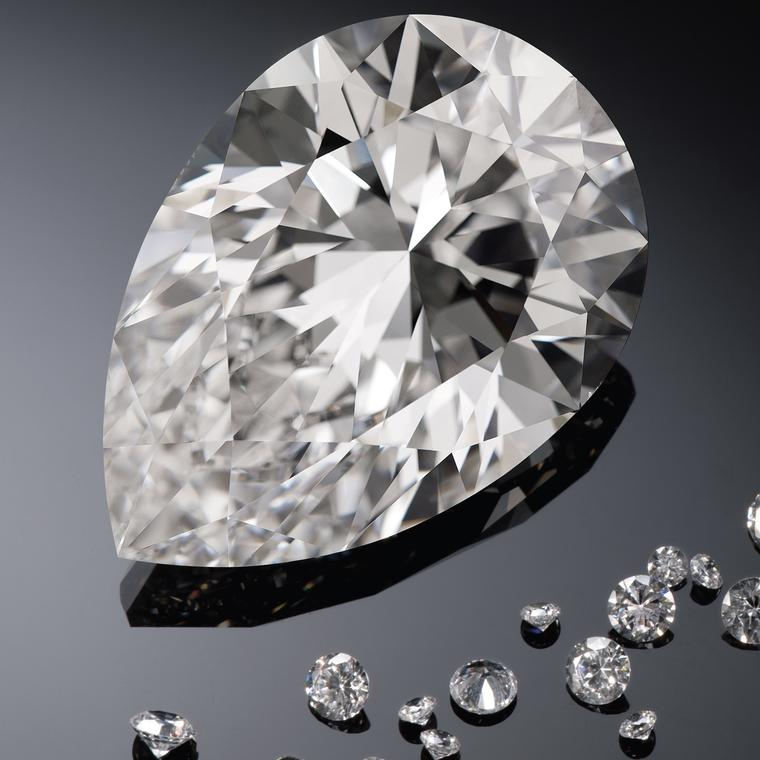 The Harrods diamond has been graded a G colour with VS1 clarity by the Gemological Institute of America