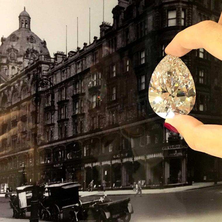 Shrouded in darkness behind an unmarked door, Maria Doulton was the first person to be invited to see the 228.31 carat Harrods Diamond