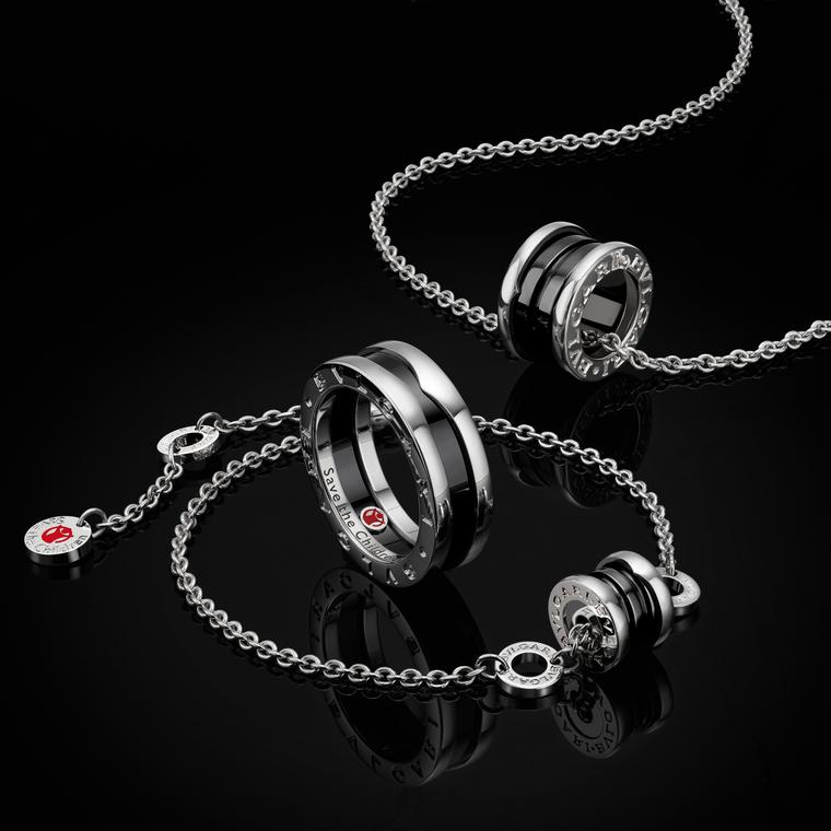 Bulgari has created a range of silver jewels based on the iconic B.Zero1 design. Almost a quarter of the value of the jewels goes to Save the Children