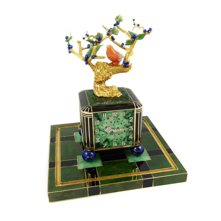 Don't miss S J Phillips' Bonsai tree and vase clock by Verger Frères from the late 1920s with a Vacheron & Constantin movement