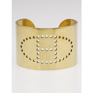 Hermes Gold Permabrass Eclipse Gold Cuff